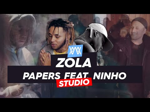 Youtube: ©AWA -Zola x Ninho  – Papers (Séance studio)