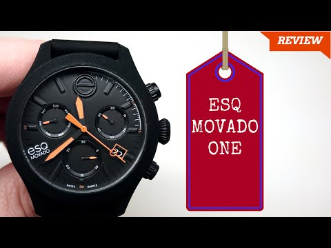 (4K) ESQ by Movado ONE Men's Watch Review Model: 07301470