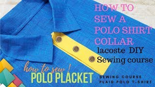 how to sew a placket on a shirt