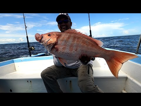 25 MILES OFFSHORE DEEP SEA HANDLINE FISHING AT THE RIGS, TRINIDAD.