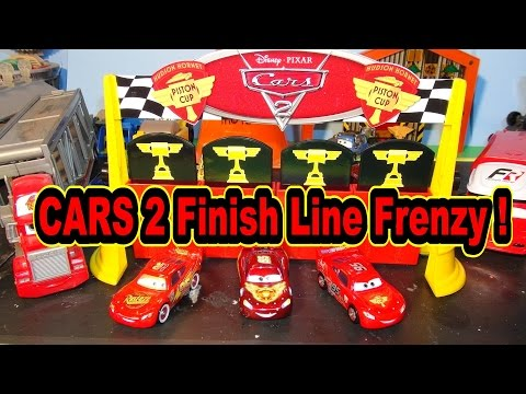 Pixar Cars 2 Finish Line Frenzy ,with Lightning McQueen it's a new Toy from Disney Pixar Cars