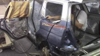 Кузовной ремонт. Старенький Субару #2. Body repair.(Body repair. Кузовной ремонт автомобилей в гараже. Подробности на моем сайте. http://remontkuzova.blogspot.ru/ Комментарии..., 2016-09-05T17:10:10.000Z)