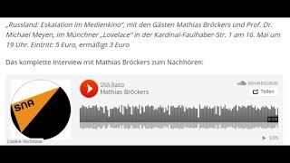 Erfolgsautor Mathias Bröckers über antirussische Propaganda westlicher Medien (Sputniknews)