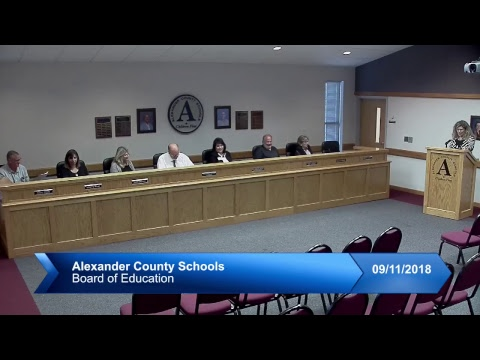 ACS Board of Education Meeting September 11, 2018