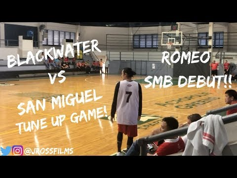 San Miguel vs. Blackwater Tune Up Game Full Highlights   TERRENCE ROMEO SMB DEBUT!!