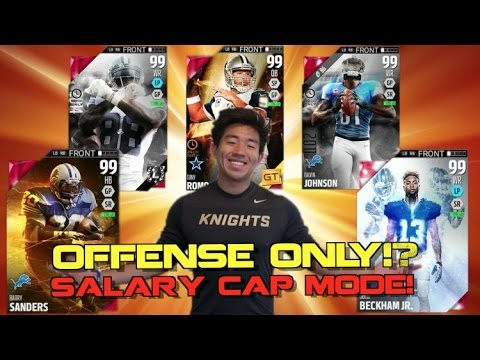 ONLY OFFENSIVE PLAYERS LINEUP! CLUTCHEST PICK SIX! Salary Cap Mode! Madden 16 Ultimate Team