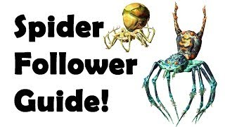 Skyrim: Secret SPIDER Follower (How to make) Spider Scroll Recipes