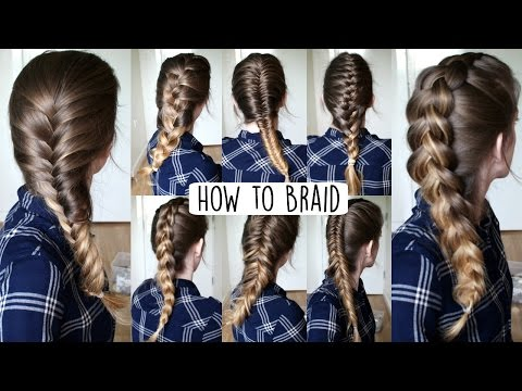 How to Braid Your Own Hair For Beginners | How to Braid | Br
