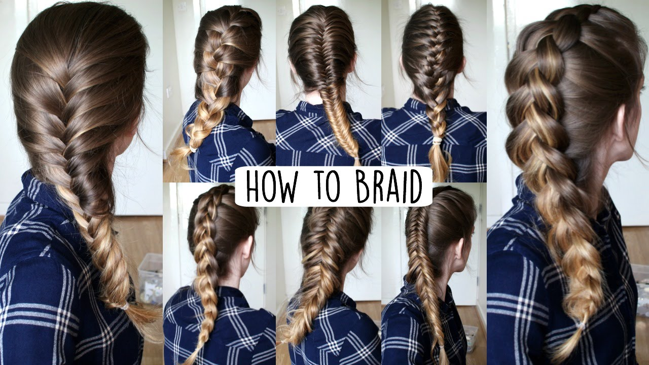 How To Braid Your Own Hair For Beginners  How To Braid  Braidsandstyles12   Youtube