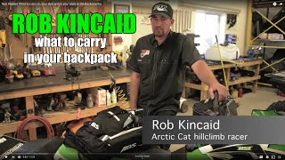 Rob Kincaid  What to carry on your sled and in your pack in the Backcountry