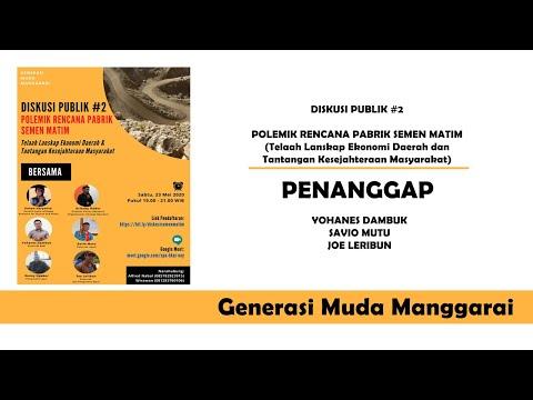 Rekaman Part III Diskusi Publik #2 - Polemik Rencana Pabrik Semen Matim | Penanggap