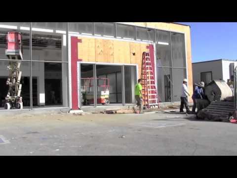 Remodel construction at Moss Bros. Volkswagen in Moreno Valley