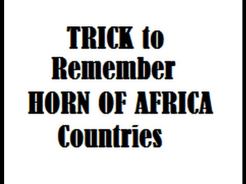 Shortcut TRICK to Remember HORN OF AFRICA Countries