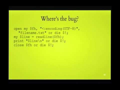 FOSDEM 2014 - Perl 5 And Unicode