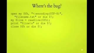 FOSDEM 2014 - Perl 5 And Unicode