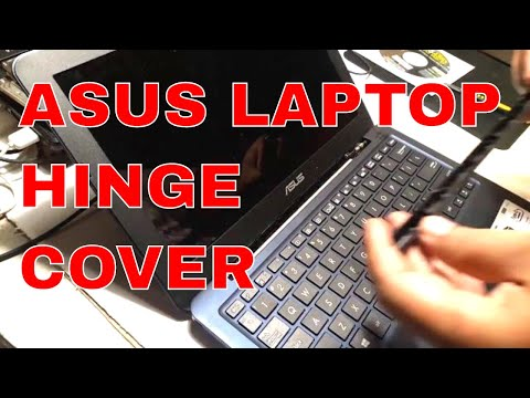 HowTo Remove Asus  Laptop Hinge Cover (1 minute)