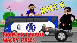 🚦RACE 6🚦 Premier League Wacky Races (Costa Gabriel Red Card Man City West Ham 1-2)