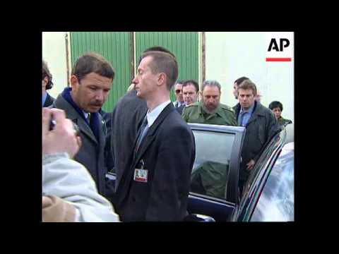 FRANCE: CUBAN PRESIDENT FIDEL CASTRO VISIT: LAST DAY UPDATE