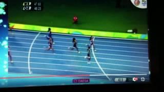 ALLYSON FELIX 400 FINAL SILVER MEDAL FINISH 2016 OLYMPICS