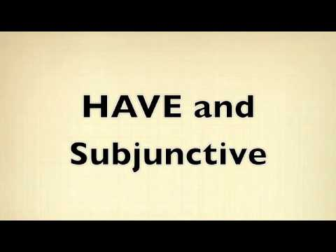 Present Perfect Subjunctive Song