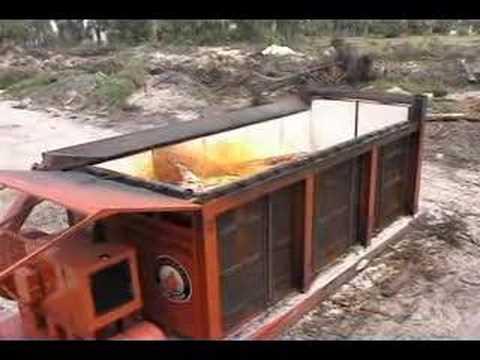Amazing Air Burners, Inc.   Air Curtain Burner / Destructor For Wood Waste Disposal    YouTube