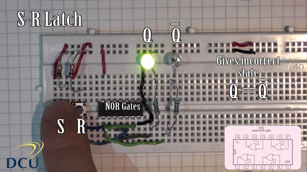 Experiments 31 Sequential Logic S R Latch And A Gated Led Lights Using Analog Flipflop Circuit Diagram Youtube