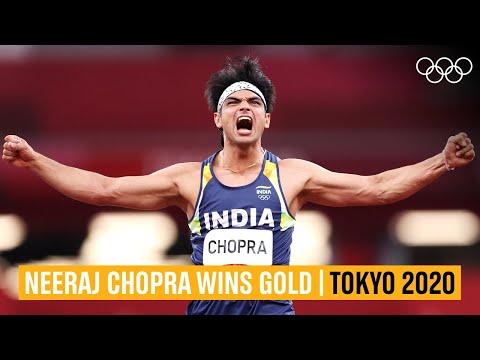 Download Neeraj Chopra's gold-winning throw!   #Tokyo2020 Highlights