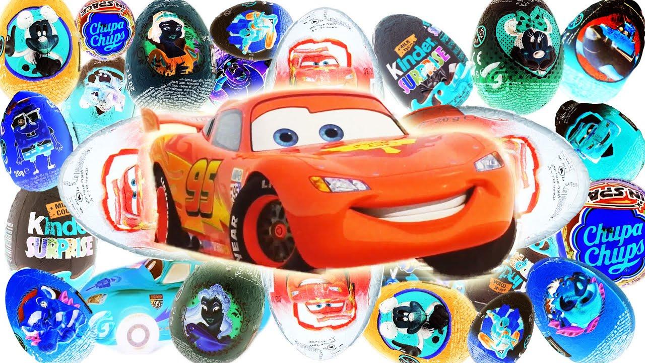 Disney Cars Toys Youtube: Surprise Eggs Opening Disney Pixar Cars Toys For Kids