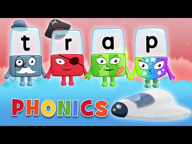 Phonics - Learn to Read | Trap in Space | Letter Teams | Alphablocks