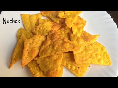 Nacho Chips Recipe | Homemade Nachos | Corn Chips | Indian style nachos