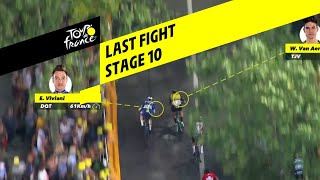 Finish Wout van Aert in etappe 10 van Tour de France 2019