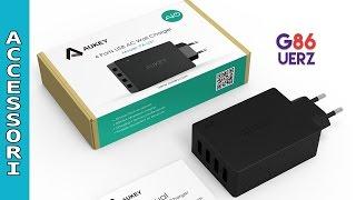 Aukey Caricatore da Muro con 4 porte USB Review