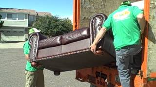 How To Remove And Dispose Of A Couch & Furniture.