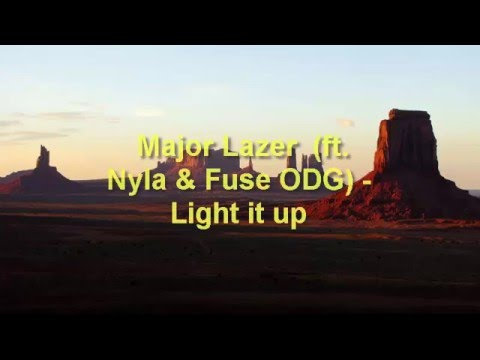 major lazer (ft; Nyla & Fose ODG)- Light it up ( LYRICS + TRADUCTION FR)