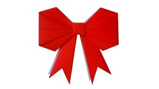 COMO HACER UN MOÑO DE PAPEL - How to make a paper bow