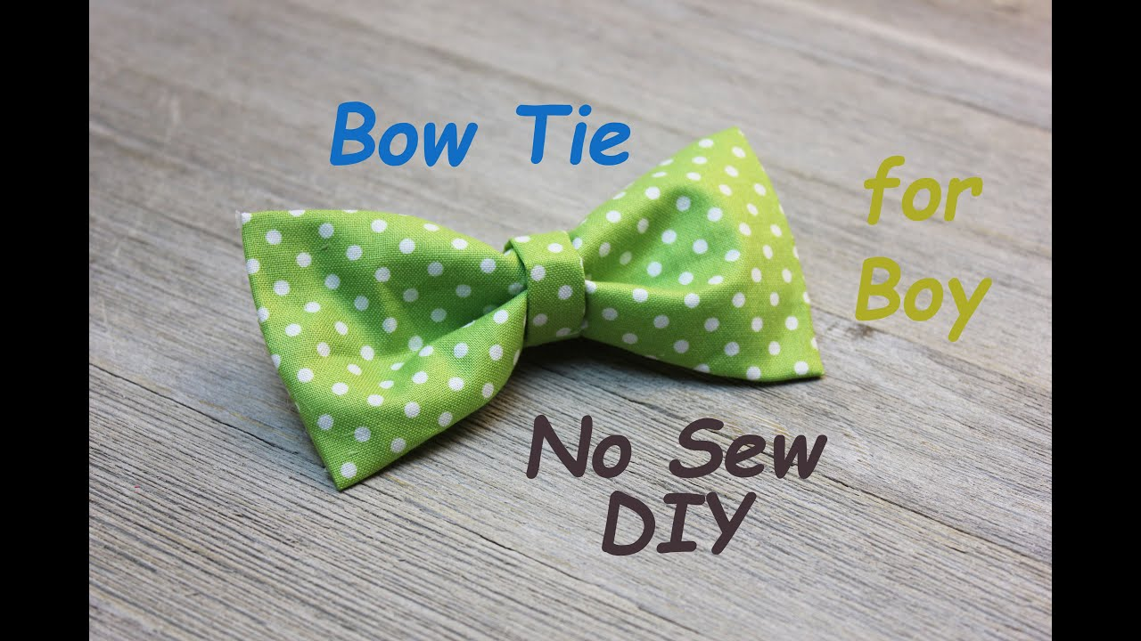 189e2595d0c84 No Sew DIY Boy's BowTie Easy Tutorial