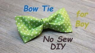 No Sew DIY Boy's BowTie Easy Tutorial