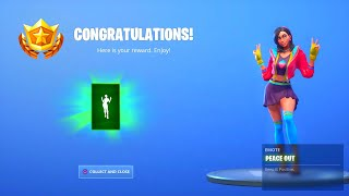 "FORTNITE SEASON 9 ROX ""PEACE OUT"" EMOTE UNLOCKED! FORTNITE SAISON 9 ROX MAX STYLES DÉBLOQUÉ"