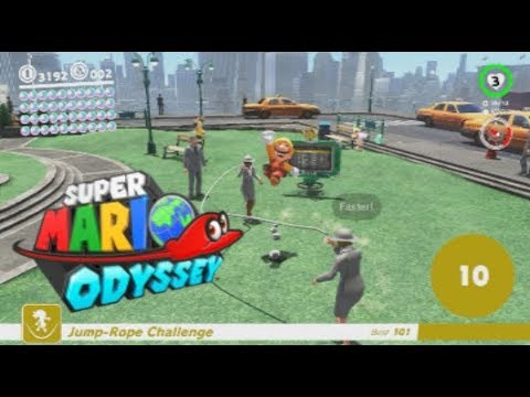 how to do the 100 jump rope challenge in super mario odyssey youtube