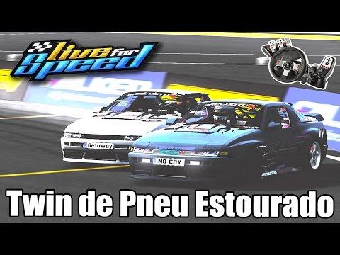 Live For Speed - Drift de pneu estourado! ft. KNZ (G27 mod)