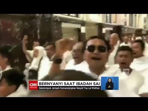 Tak Patut Ditiru, Jemaah Umrah GP Ansor Banser Bernyanyi Saat Ibadah Sai