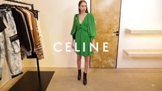 Новая коллекция Celine Женский элегантный образ Фирменный бутик в Лакшери Store Тренды 2020