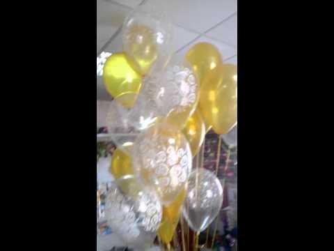 Золотые и прозрачные шары!