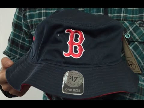 591629438be Red Sox  KIRBY BUCKET  Navy Hat by Twins 47 Brand - YouTube