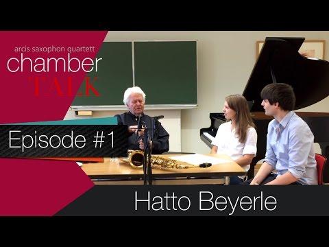 chamberTALK episode 1: Hatto Beyerle (Alban Berg Quartett) \ Arcis Saxophon Quartett
