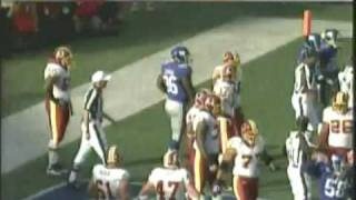 Washington Redskins vs New York Giants NFL Fight Santana Moss vs Corey Webster