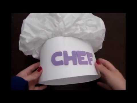 77e09a26cd1 Como hacer un gorro de chef - Hola Paola - YouTube