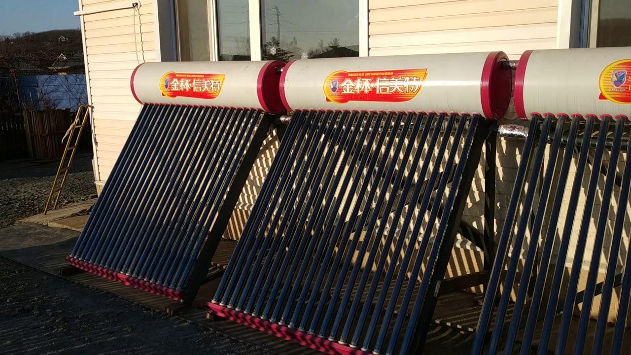 Бесплатное отопление дома с помощью солнечных водонагревателей.