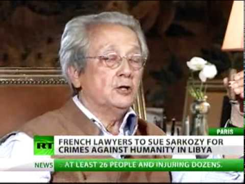 Lawyers file charges against Sarkozy's warcrimes in Libya (Sept 19, 2011)