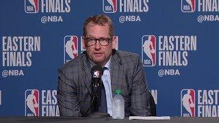 Nick Nurse Postgame Interview - Game 6 | Raptors vs Bucks | 2019 NBA Playoffs